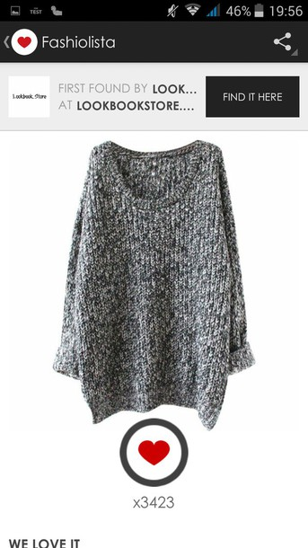 sweater pull laine gris
