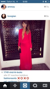 dress,red dress maxi long sleeve
