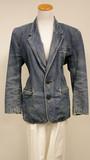 Denim wash liz wear blazer (size