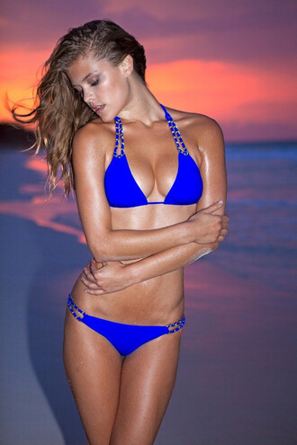 swimwear blue fashion summer beach trendy tan sexy hot bikiniluxe-feb