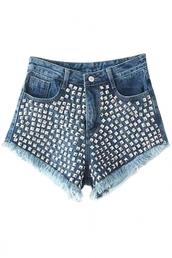 shorts,sexy shorts,hot shorts,middle-waist,denim shorts,rivet