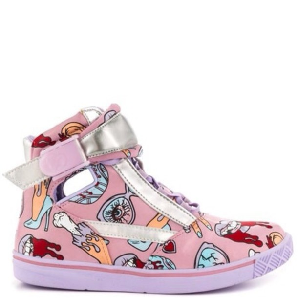 shoes pink colorful nikes pastel color guts monsters