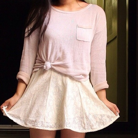 long sleeved shirt light pink pocket dress
