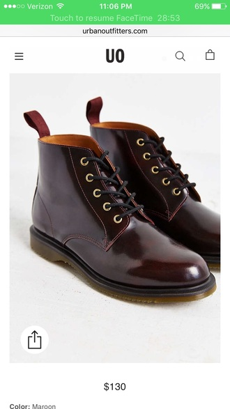shoes burgundy emmeline 5 eye drmartens