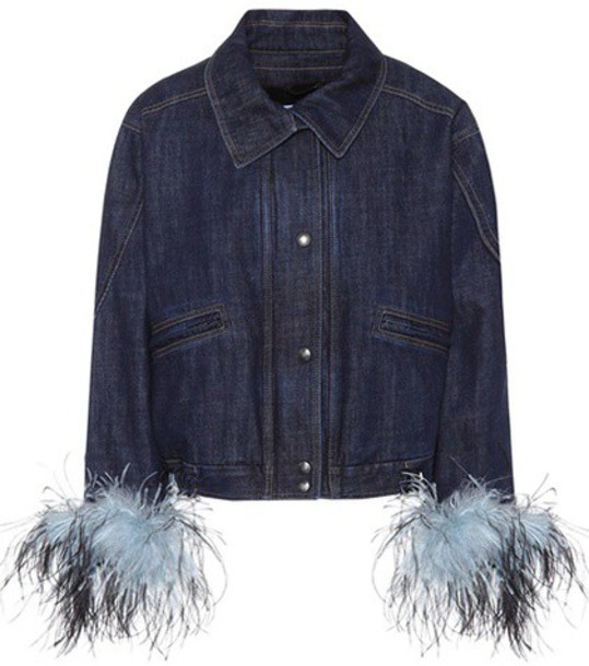 Prada jacket denim jacket denim blue