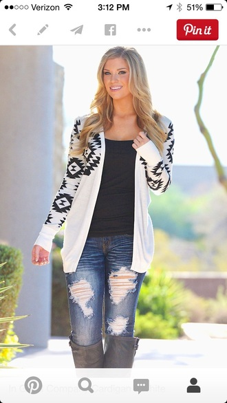cardigan aztec cute