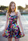 Galaxy printed skater dress