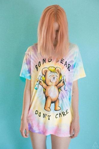 shirt tye dye cute bong bear bong bear adorable