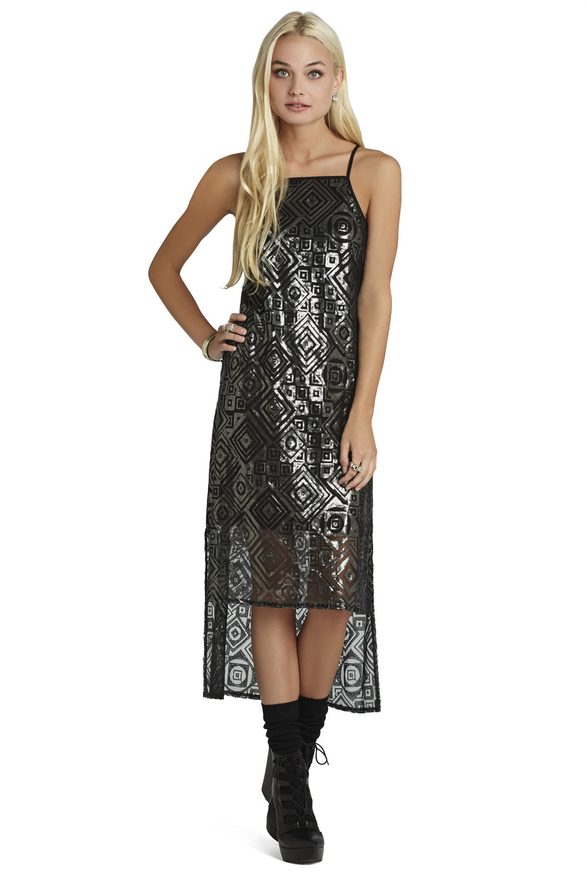 Sequin Detailed Midi Dress