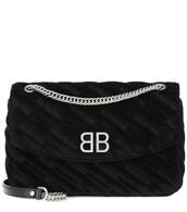 bag,shoulder bag,velvet,black