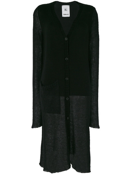 Lost & Found Rooms cardigan long cardigan cardigan long sheer women mohair black wool sweater