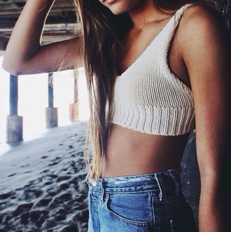 top knitted crop tops dealsforyou boho bohemian grunge grunge. vintage white black cheap cute vogue chanel knitted top brandy melville shorts