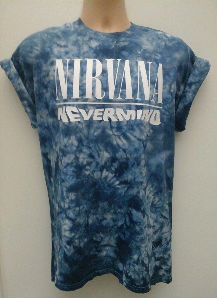Nirvana nevermind tie dye t shirt grunge indie tie dye retro vintage