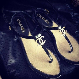 shoes black chanel sandals classy hot lovly silver flat sandals