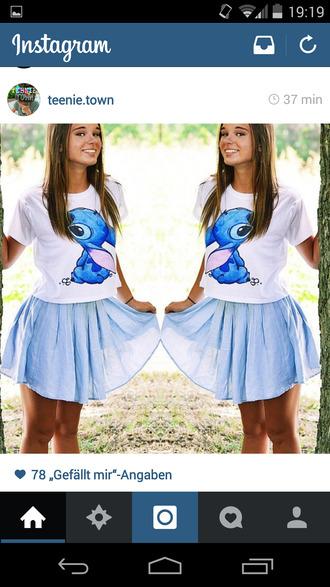 stich tshirt design blue shirt