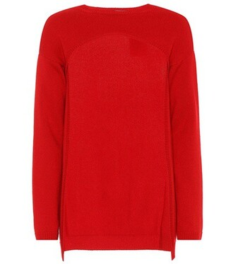 sweater cropped red