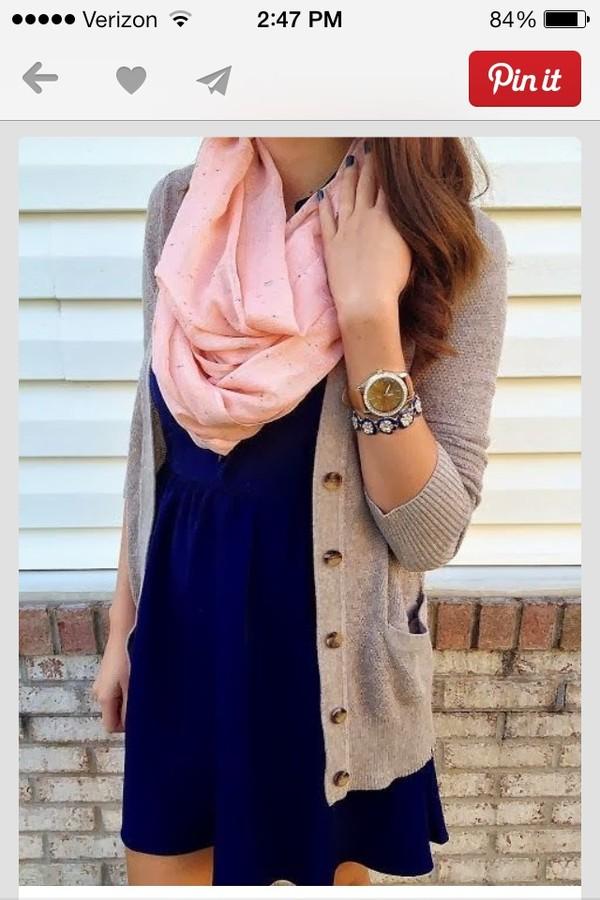 dress cardigan scarf pink jewels sweater heather grey navy dress swimwear fall outfits warm wool blouse girly dress pink skirt jacket