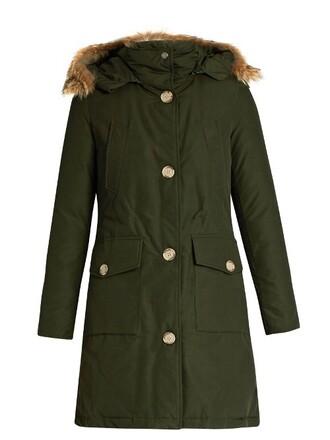 parka long fur cotton khaki coat