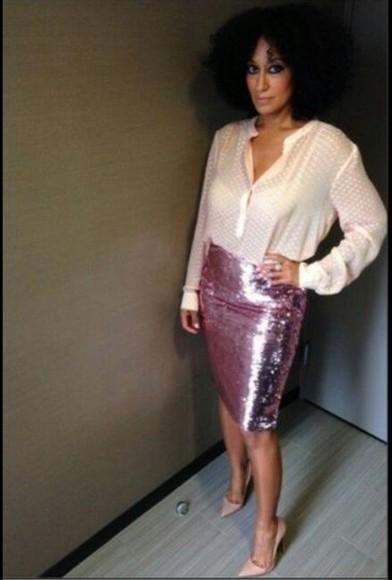 skirt pink skirt lilac skirt sequin skirt magenta skirt