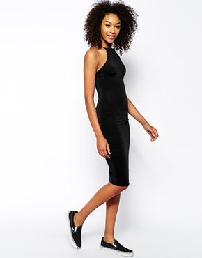 Daisy Street High Neck Bodycon Dress at asos.com