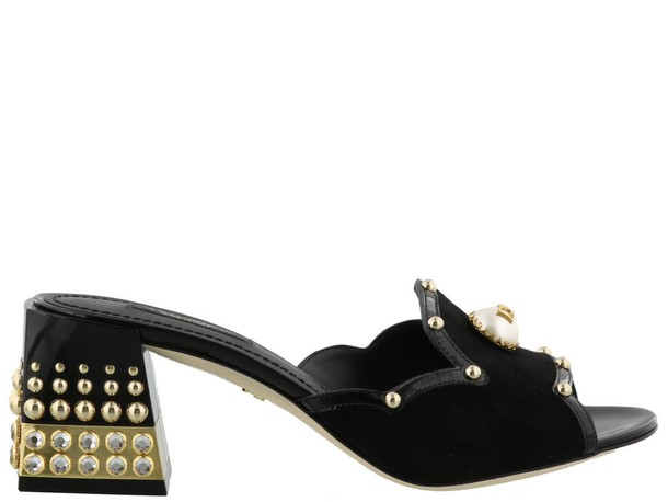 Dolce & Gabbana gold black shoes