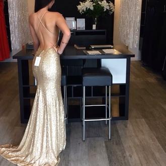 dress gold formal formal dress