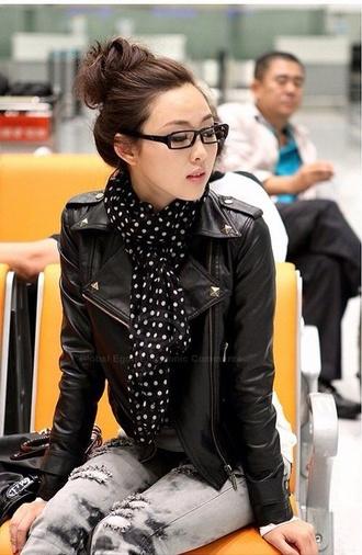 jacket leather jacket spiked leather jacket studded jacket