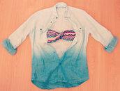 jacket,bleu,lin,tie dye,maillot de bain,azteque,swimwear