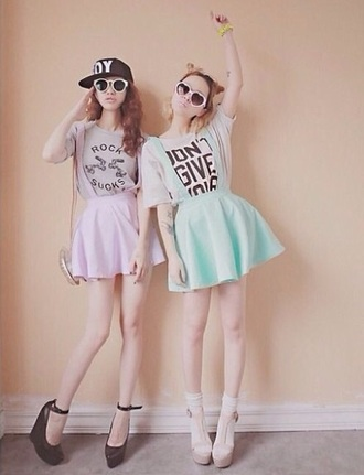 skirt tumblr pastel outfit