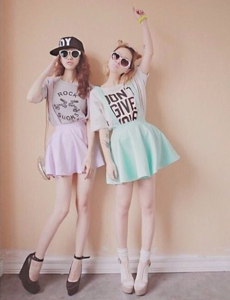 Skirt tumblr pastel outfit - Wheretoget
