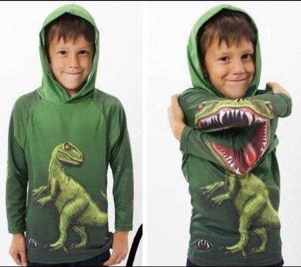 green sweater dinosaur.