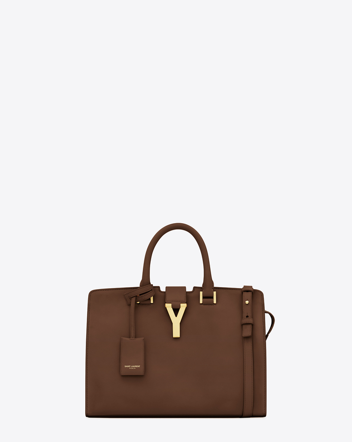 Saint Laurent Classic Small Cabas Y Bag In Cognac Leather | ysl.com
