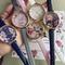 2016 hot vintage style floral leather strap quart wristwatch
