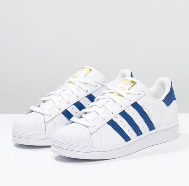 blue adidas superstar
