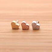 jewels,stud earrings,heart earrings,heart,heart stud earrings,lovely gift