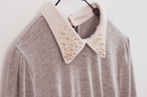 sweater grey white gold