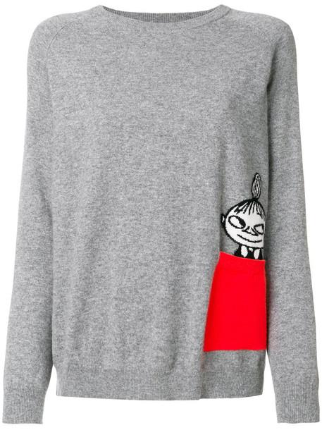Chinti & Parker - Little My peek pocket jumper - women - Cashmere - S, Grey, Cashmere