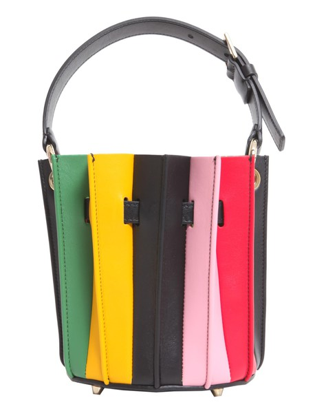 Sara Battaglia mini bag bucket bag multicolor