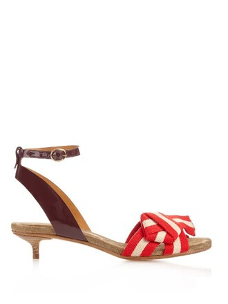 bow sandals red shoes