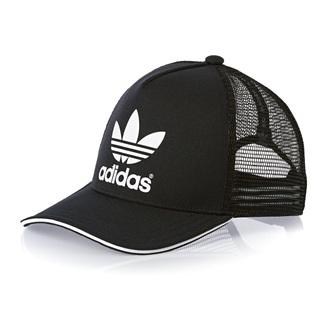hat black adidas love logo truckerhat hats and beanies adidas originals white