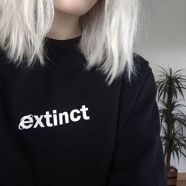 sweater black extinct grunge