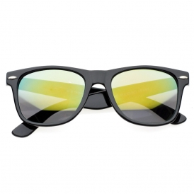 Colored Plastic Wayfarer Sunglasses with Revo Lens | 80's | 80's Purple