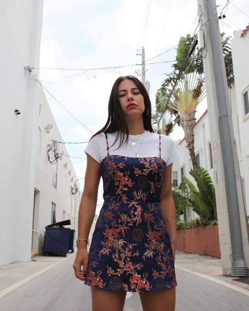 71f32b10c716 dress realisation par dress mini dress slip dress floral floral dress t- shirt white t
