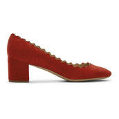 pumps,suede,red,shoes