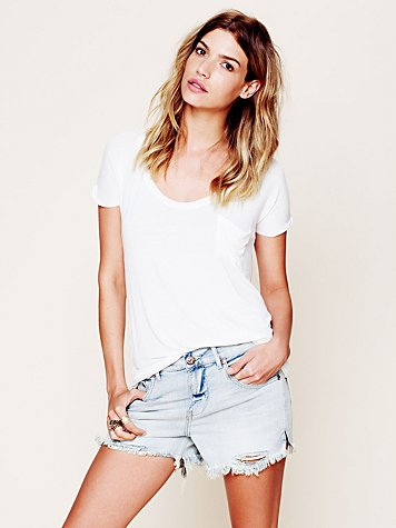 Free People  FP Denim Cut Off Shorts at Free People Clothing Boutique