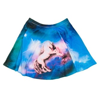 skirt dope galaxy unicorn t-shirt
