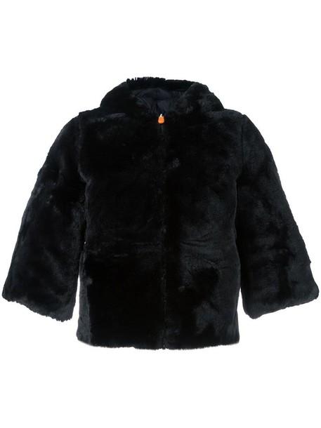 Save The Duck jacket fur faux fur women black