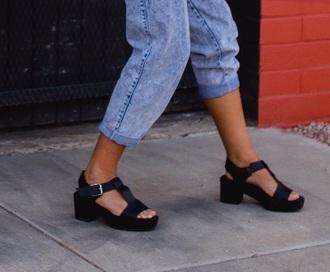 shoes black wedge sandals