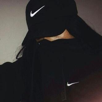 hat black cap nike nike cap swoosh logo nike logo gangsta thug life sweater