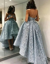 dress,blue dress,prom,prom dress,2017,blue,gorgeous,formal dress,strapless dress,elegant dress,off the shoulder dress,lace or slightly poofy textured,lace dress,vintage,high low dress,turquoise,sleeveless,backless,style,fashion,trendy,long prom dress,grey,cute,lace,silver,high to low dress,cute dress,light blue,baby blue dress,embroidery dress,sweetheart neckline,strapless,beautiful,embellished,quinceanera dress,flowery  dress